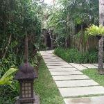 Walk path to villa