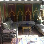 Berber tent on the terrace