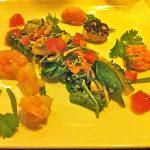 Hummerkrabben mit Salat