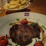 My steak ... perfect - Char Grilled 8oz Irish Rib-Eye Steak