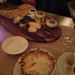 Cheese Plate and French Onion Soup