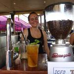 Lovely iced tea at Nightcliff Sunday Market