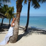 Me bride and beach