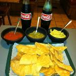 "Chips and Salsa and a few ""Original"" Coca-Cola's"