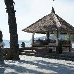 The beachfront verandah