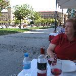 Relaxing outdoors at La Tagliatella