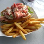 Lobster Roll at Osterville Fish Too