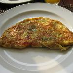 Omlette at breakfast