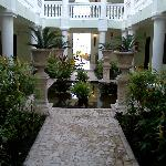 courtyard outside of room