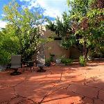 Garden Area above pool - Outside of Purple Lizard