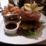 Relish Burger Bistro - The Cowboy... YUMMY! Look at the little basket of tater tots