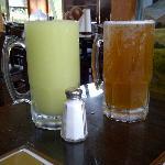 HUGE margaritas and beer!