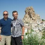 Todd, the birthday boy and Ismail the guide in Turkey