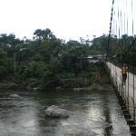 Pont emprunté pour parvenir au site de l'hôtel