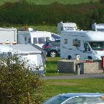 Caravans crowded together despite open spaces being available