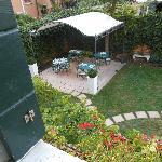 Buffet area and garden