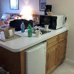 Sink & Fridge area in room