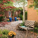 Patio areas and gardens