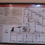 Floor plan, 4th floor, hotel Ideon