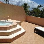our jacuzzi on the balcony!