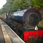 At Wolsingham station.