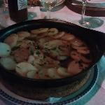 Pork Fillets in wine sauce and sliced potatoes