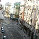 View of the busy street Ulloi Ut