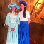 The girls had fun dressing in costumes