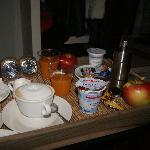 Desayuno en el cuarto