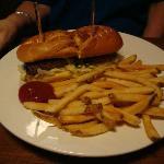 Really large hamburger at the Brick House Tavern