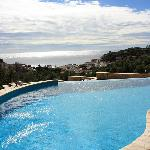 Swimming pool with seaview