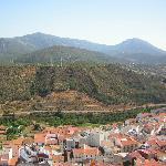 Vista parcial Fuencaliente y Carretera a Montoro