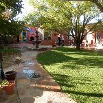 Beautiful patio and yard.