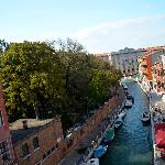 View of the canal from our room, Grand Canal just a short distance away