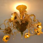 One of the Murano chandeliers