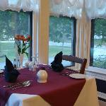 Dinning room window view