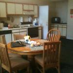 Kitchen and far away TV in Common area