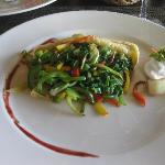 Vegetable crepes....delicious. And healthy.