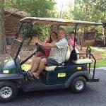 Renting a golf cart is a MUST.