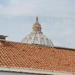 La cupola di S.Pietro vista dalla finestra