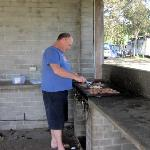 The bbq facilities