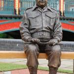 The wonderful statue of Captain Mainwaring - come an sit beside him for your 'platoon shot'.