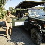 Our ranger, JP, by his vehicle