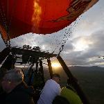 Sunrise on the balloon ride