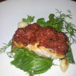 A picture of one of the main course (fish)