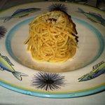 spaghetti with urchin roe