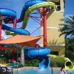 slides at the main pool