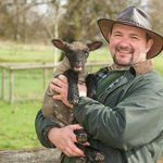 Our Farm Manager with one of our Spring lambs