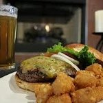 YUM! Burgers, Tator tots and cold beer!