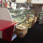 front counter view of meat/cheese case